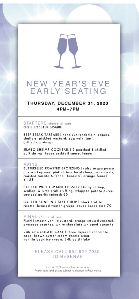 New Year's Eve Early Seating