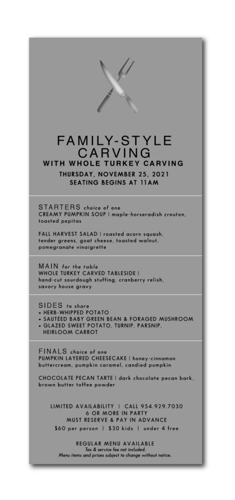 Family Style Turkey Carving